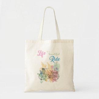 La vida es una bolsa de asas hermosa del paseo