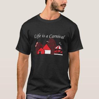 La vida es una camiseta divertida gráfica del