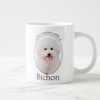 La vida es una mejor taza del jumbo de Bichon