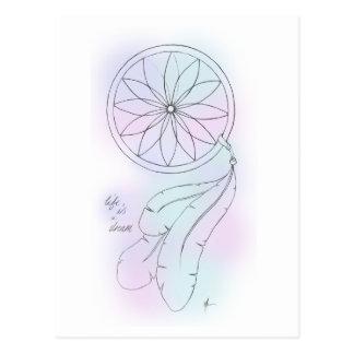 """La """"vida es"""" una postal en colores pastel ideal de"""