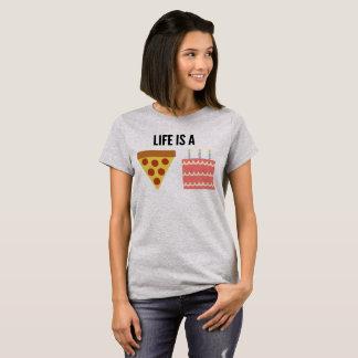 ¡La vida es una torta de la pizza! Camiseta