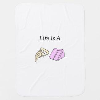 La vida es una torta de la pizza - manta del bebé