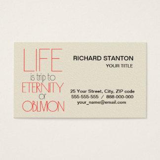 La vida es viaje tarjeta de negocios