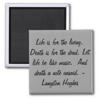 La vida está para el vivo… imanes