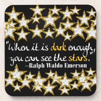 La vida inspirada de Ralph Waldo Emerson cita el Posavasos De Bebida