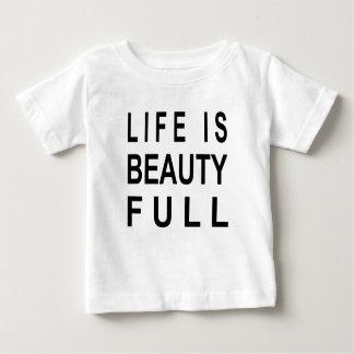 La vida MODERNA del TEXTO es belleza por completo Camiseta De Bebé