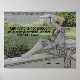 La vida no es bastante póster