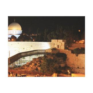 La vieja opinión de la ciudad de Jerusalén Impresión En Lienzo