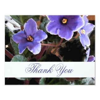 La violeta africana le agradece las notas invitación 10,8 x 13,9 cm