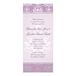 La violeta africana y el boda delgado del damasco  comunicados