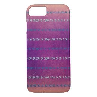 La violeta colorida texturizó las líneas caso del funda iPhone 7