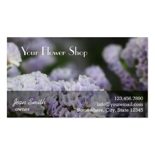 La violeta con clase florece la floristería del fo tarjetas personales