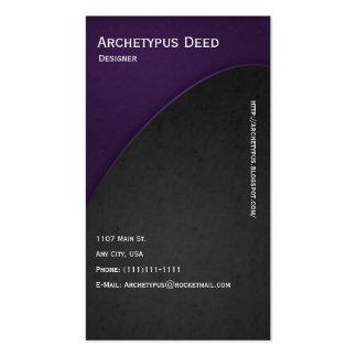 La violeta en gris curva el estilo 2 de la tarjeta tarjetas de visita