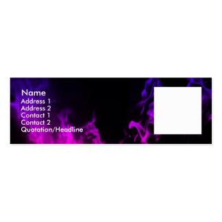 La violeta flamea II Tarjetas De Visita Mini