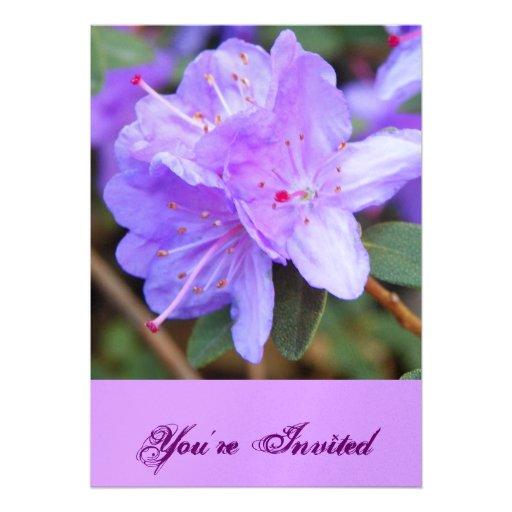La violeta invita invitaciones personalizada