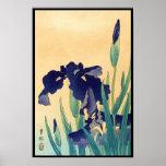 La violeta japonesa del ukiyo-e del vintage clásic impresiones