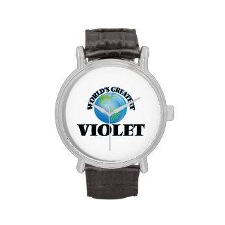 La violeta más grande del mundo relojes de pulsera
