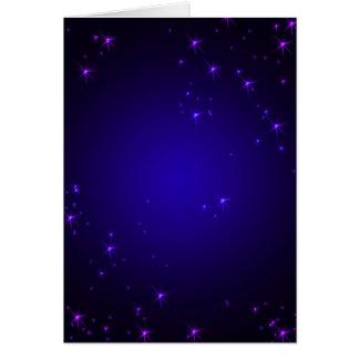 La violeta protagoniza (el retrato) tarjeta de felicitación