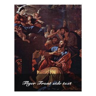 La Virgen apareció a San Jaime, por Nicolás Folleto 21,6 X 28 Cm