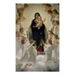 La Virgen con Angels, 1900 Posters
