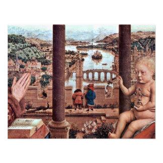 La Virgen con el detalle de Rolin del canciller E Invitacion Personal