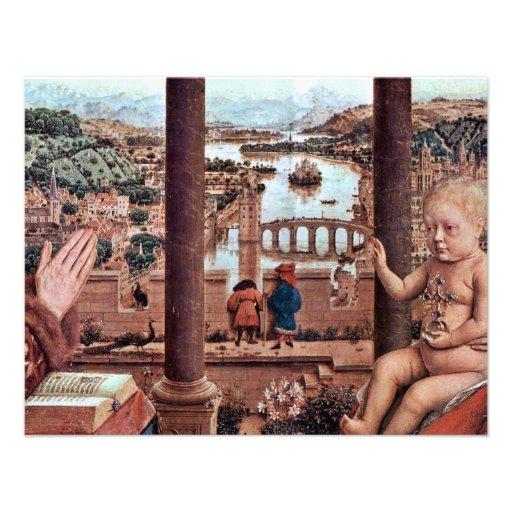 La Virgen con el detalle de Rolin del canciller, E Invitacion Personal