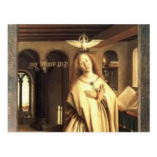 La Virgen de enero Eyck- anuncia Postal