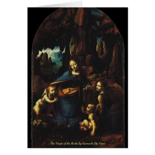 La Virgen de las rocas de Leonardo da Vinci Tarjeta Pequeña