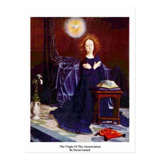 La Virgen del anuncio de David Gerard Postal