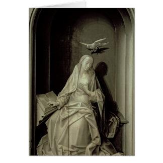 La Virgen del anuncio Tarjetón