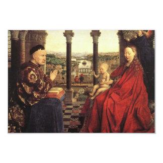 La Virgen del canciller Rolin en enero van Eyck Invitación 8,9 X 12,7 Cm