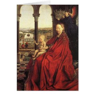 La Virgen del canciller Rolin Tarjeta De Felicitación