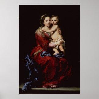 La Virgen del rosario, c.1650 Poster