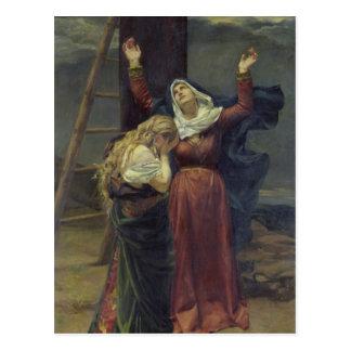 La Virgen en el pie de la cruz Postal