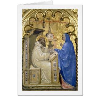 La Virgen que aparece a St Bernard, detalle de a Felicitacion