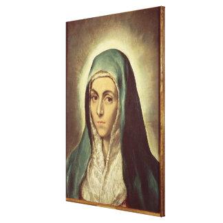 La Virgen que está de luto (aceite en lona) Impresión En Lienzo