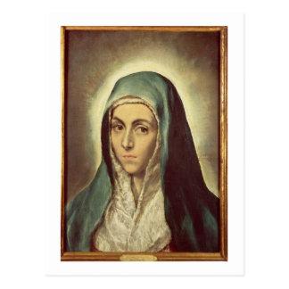 La Virgen que está de luto (aceite en lona) Postal