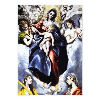 La Virgen y el niño con las invitaciones del St. Invitación 12,7 X 17,8 Cm