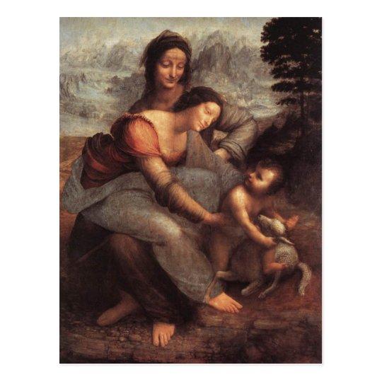 La Virgen y el niño con St Anne Postal