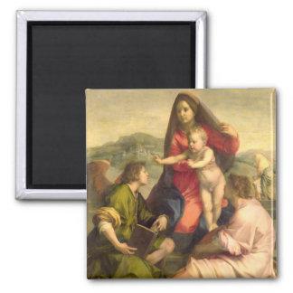 La Virgen y el niño con un santo y un ángel, C. Imán Cuadrado