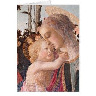 La Virgen y el niño de Alessandro Botticelli Tarjetas