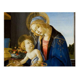 La Virgen y el niño de Sandro Botticelli Postal