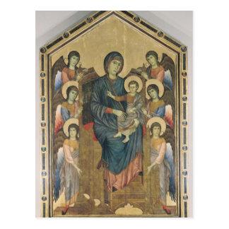 La Virgen y el niño en majestad Postal