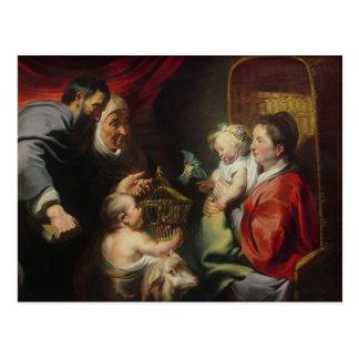 La Virgen y el niño Postal