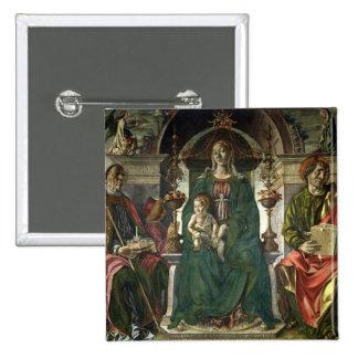 La Virgen y los santos, 1474 Chapa Cuadrada 5 Cm