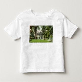 La vista de la loma del olmo, Longfellow residió Camiseta De Niño