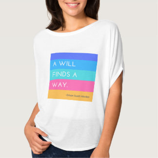 La voluntad de A encuentra una camisa de la manera