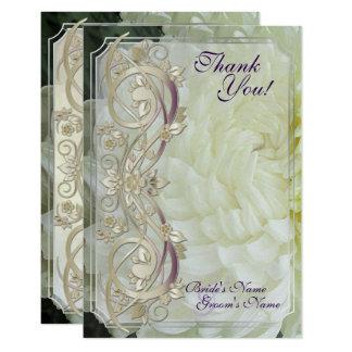 La voluta de la perla y el crisantemo blanco se invitación 8,9 x 12,7 cm