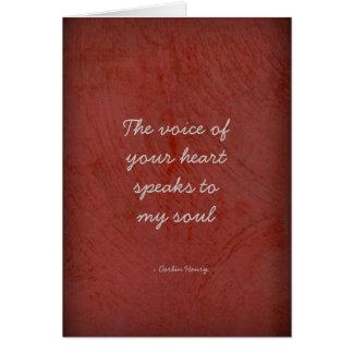 La voz de su corazón - círculos tarjeta de felicitación
