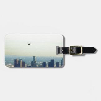 LA y helicóptero Etiquetas Para Maletas